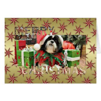 Noël - Shih Tzu - Riley Carte De Vœux