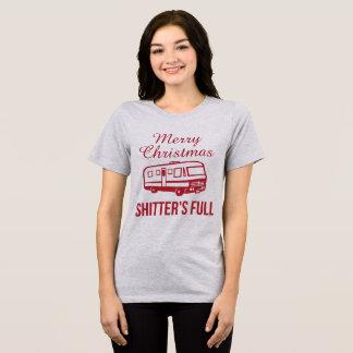 Noël Shitter de T-shirt de Tumblr Joyeux plein