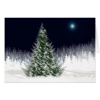 Noël silencieux de Noël de carte de vacances de
