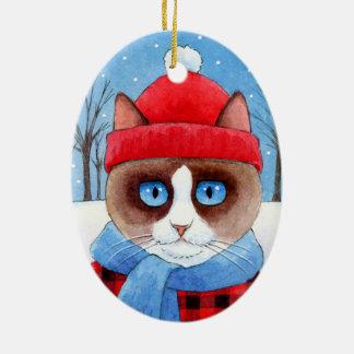 Noël Snowshow ou ornement de chat de Ragdoll