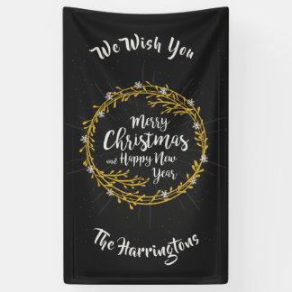 Noël souhaite la bannière nommée faite sur