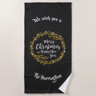 Noël souhaite la serviette de plage nommée faite