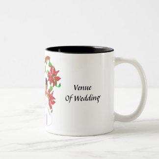 Noël/tasse wedding shower I de décembre Mug Bicolore