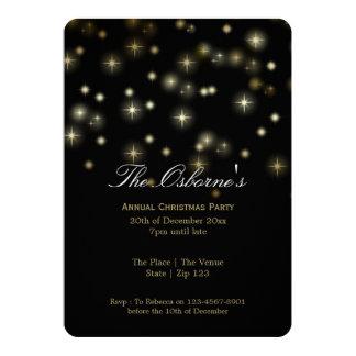 Noël tient le premier rôle la partie de fête carton d'invitation  12,7 cm x 17,78 cm