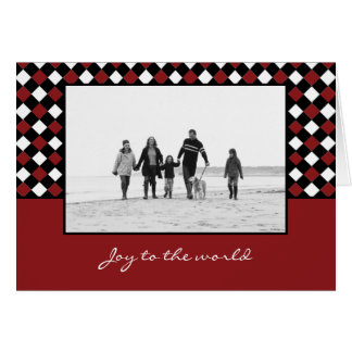 Noël tisse des cartes photos de vacances de Noël
