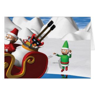 Noël triste Elf Carte De Vœux