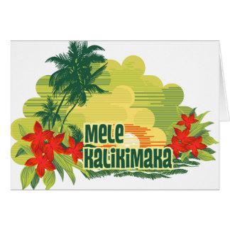 Noël tropical de Hawaïen d'île de Mele Kalikimaka Carte De Vœux