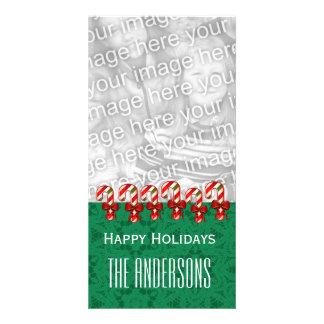Noël V5 de sucres de canne de GROUPON Joyeux Photocarte Personnalisée
