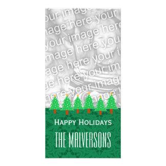 Noël V6 d arbres de Noël de GROUPON Joyeux Photocartes Personnalisées