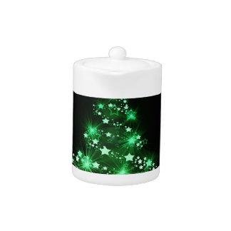 Noël, vacances, joie, couleurs vertes, décor