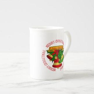 Noël vert Bells du rouge | Joyeux Mug