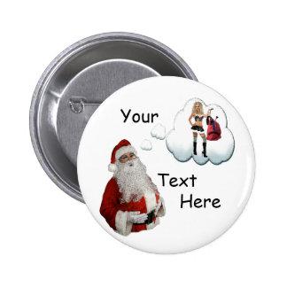 Noël vilain - Père Noël vilain Pin's