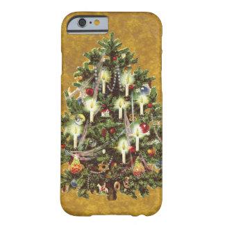 Noël vintage, arbre victorien décoré coque iPhone 6 barely there