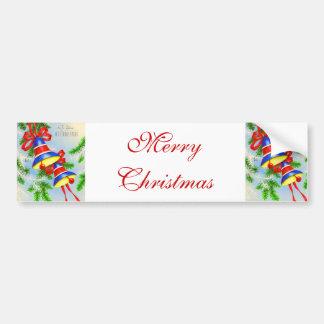 Noël vintage Bells de Noël Autocollant Pour Voiture