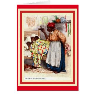 Noël vintage Caed d'Afro-américain Carte De Vœux