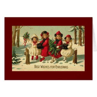 Noël vintage carte de vœux