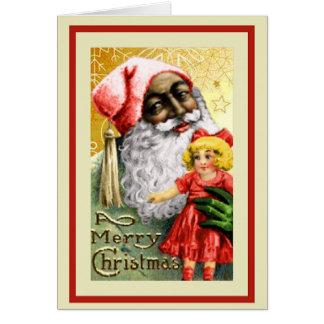 Noël vintage d'Afro-américain Cartes