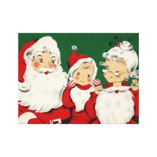 Noël vintage de famille de Père Noël Toiles