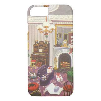 Noël vintage enveloppant des présents dans le coque iPhone 7