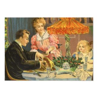 Noël vintage, invitation de dîner de famille