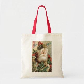 Noël vintage, le père noël victorien avec le pin sac