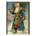 Noël vintage, le père noël victorien cartes de vœux