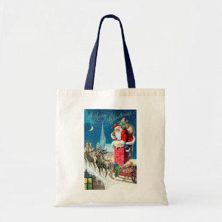 Noël vintage le père noël victorien sur la tote bag