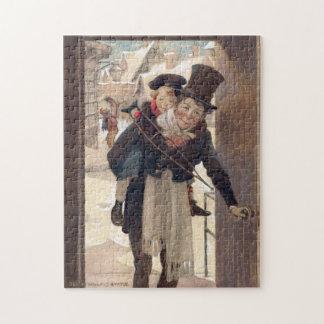 Noël vintage par Jessie Willcox Smith Puzzle