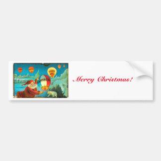 Noël vintage Père Noël Autocollant De Voiture