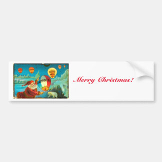 Noël vintage Père Noël Autocollant Pour Voiture