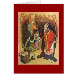 Noël vintage Sint Nicolaas Cartes De Vœux