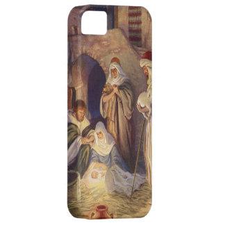 Noël vintage, trois bergers et bébé Jésus Coque iPhone 5 Case-Mate