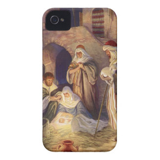 Noël vintage, trois bergers et bébé Jésus Coques iPhone 4 Case-Mate