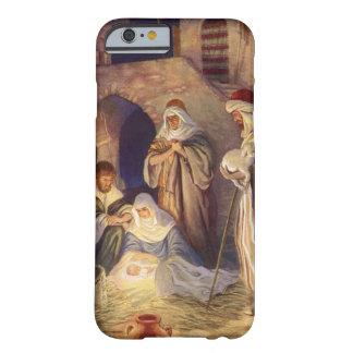 Noël vintage, trois bergers et Jésus Coque iPhone 6 Barely There