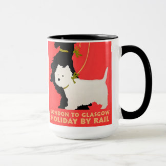 Noël Westie et Scoty de tasse de vacances