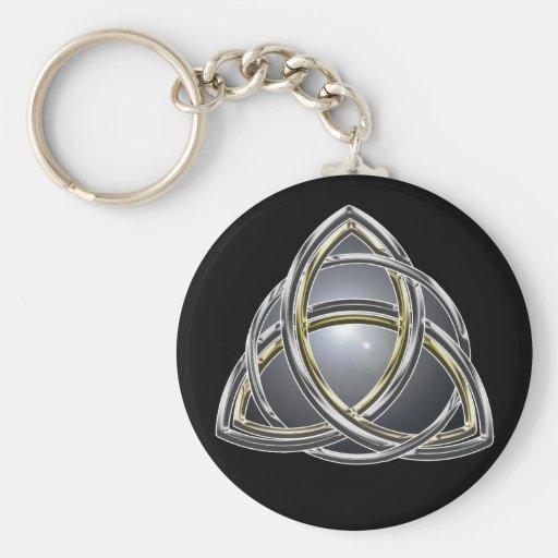 Noeud 2 Keychain de trinité Porte-clefs