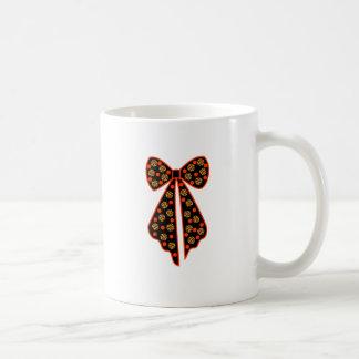 noeud à pois leopard mug