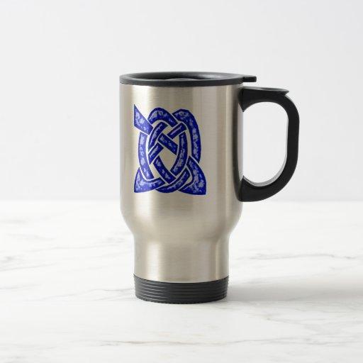 Noeud celtique 6 bleu-foncé tasse à café