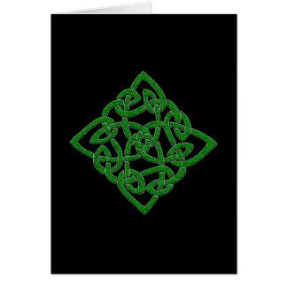 Noeud celtique - cartes de diamant