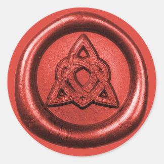 Noeud celtique de trinité avec l'autocollant de sticker rond