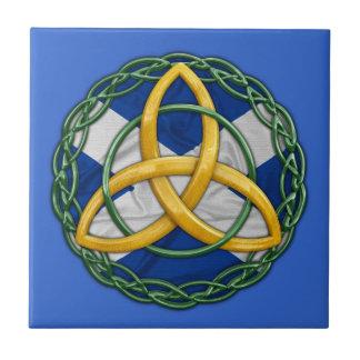 Noeud celtique de trinité carreau