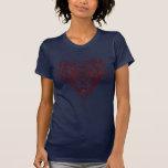 Noeud celtique rouge de coeur t-shirt