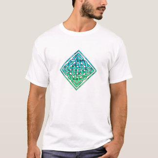 Noeud celtique - vert bleu de diamant t-shirt