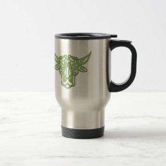Noeud de Celtic de Taureau de Taureau Mug De Voyage