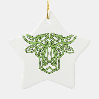 Noeud de Celtic de Taureau de Taureau Ornement Étoile En Céramique