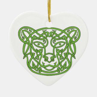 Noeud de Celtic d'ours Ornement Cœur En Céramique