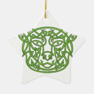Noeud de Celtic d'ours Ornement Étoile En Céramique