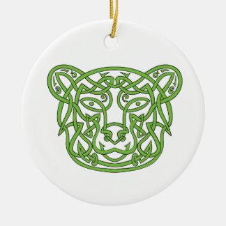 Noeud de Celtic d'ours Ornement Rond En Céramique