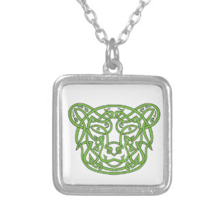 Noeud de Celtic d'ours Pendentif Carré