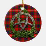Noeud de trinité et tartan celtiques de Fraser de  Décorations De Noël